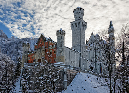 Winter in Bavaria - Neuschwanstein Castle. Editorial