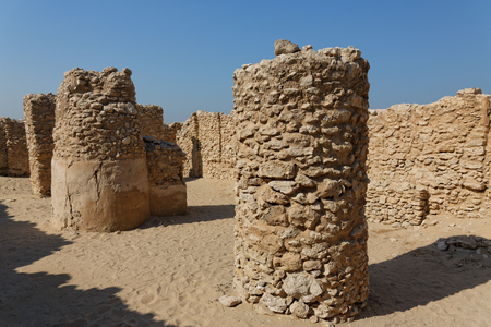 Saar archaeological site, Kingdom of Bahrain. Stock Photo