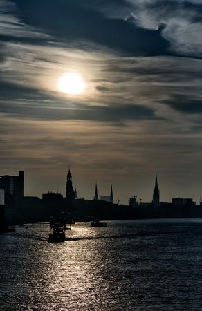Free and Hanseatic City of Hamburg. Stock Photo