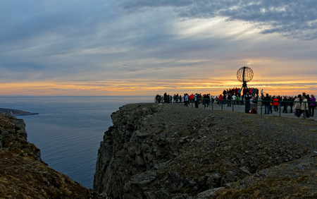 Globe Monument at North Cape.Norway, North Cape.