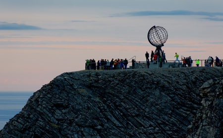 Globe Monument at North Cape, Norway