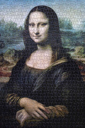 A puzzle of the Mona Lisa Painting from Leonardo Da Vinci