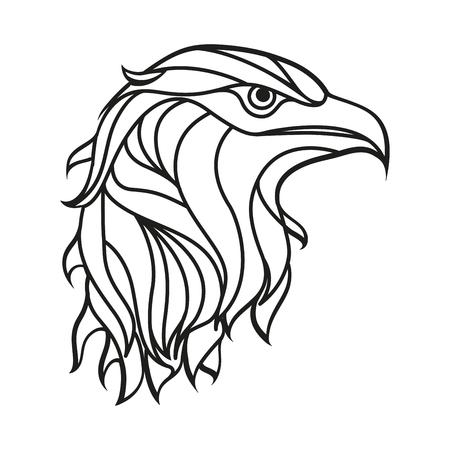 Taglio laser di illustrazione vettoriale Aquila