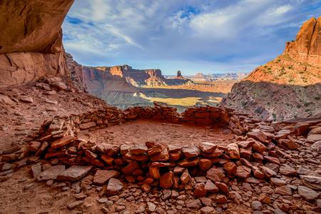 False Kiva, Canyonlands National Park Stock Photo