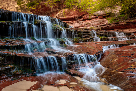 Archangel Falls in Zion National Park Фото со стока