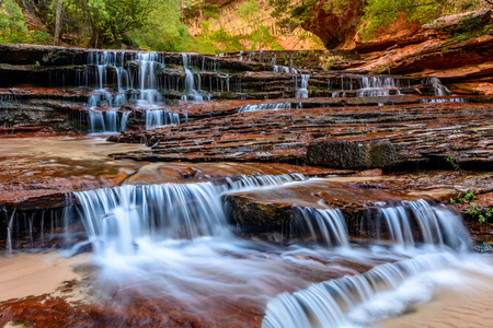 Archangel Falls in Zion National Park Stockfoto