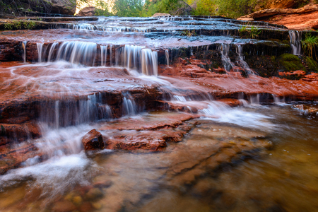 Cascade Falls in Zion National Park