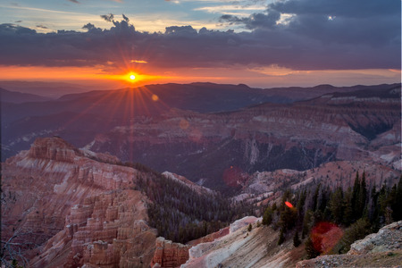 Sunset overlooking Cedar Breaks National Monument