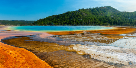 Grand Prismatic Geyser in Yellowstone