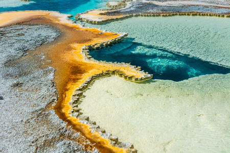Doublet Spring in Yellowstone Stockfoto