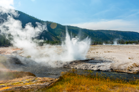 Eruption in Yellowstone