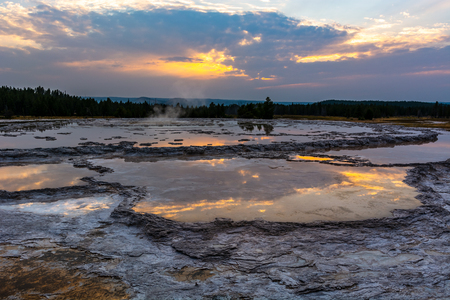 Great Fountain Geyser in Yellowstone