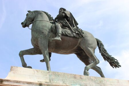 testicle: Monument horse Louis XIV, Place Bellecour in Lyon (France)