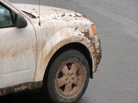 sedona: SUV covered in mud in Sedona, Arizona USA