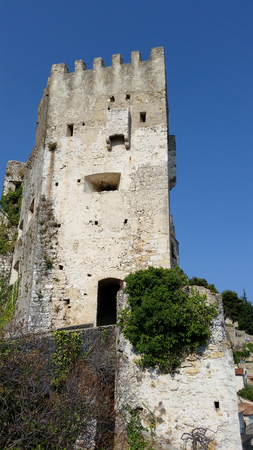 strong chin: Beautiful Castle of Roquebrune-Cap-Martin in the old village of Roquebrune-Cap-Martin
