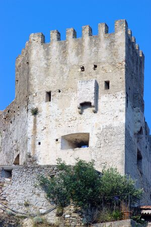 southeastern: Castle of Roquebrune-Cap-Martin in southeastern France between Monaco and Menton Editorial