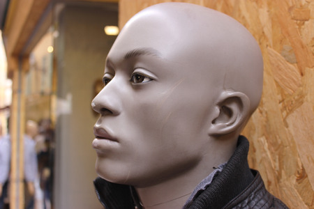 male mannequin: Black Male Mannequin in front of a store window