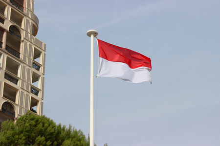principality: The National Flag Of The Principality Of Monaco