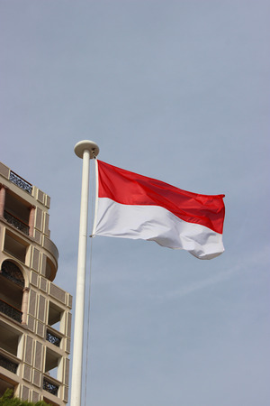monegasque: The National Flag Of The Principality Of Monaco