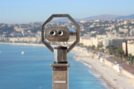 nice france: Coin Operated Binoculars at Nice, France