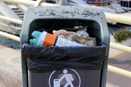 recycles: Public Trash is Full. Harbor of Monaco