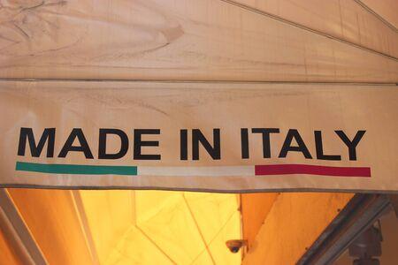made manufacture manufactured: Made in Italy - Fatto in Italia in Italian