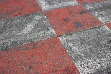 montecarlo: Texture of Race Asphalt and Curb on Monaco Grand Prix Street Circuit