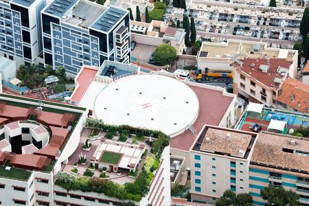 Helicopter Landing Pad on a Hospital Building in Monaco Reklamní fotografie