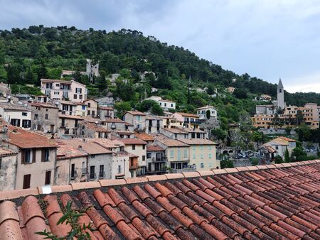 Medieval Village Of Peille In The French Alps, Cote d'Azur, French Riviera, Provence, France, Europe