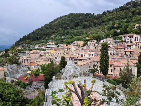 Beautiful Medieval Village Of Peille In The French Alps, Cote d'Azur, French Riviera, Provence, France, Europe