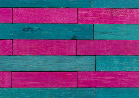Vintage set of Pink and Blue Cuisenaire rods in a horizontal pattern
