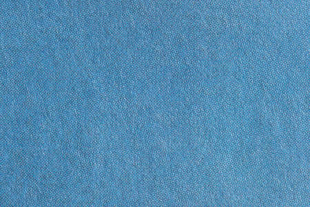 Macro image of sky blue CMYK dots on flat newsprint Stock Photo
