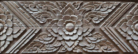Traditional Thai style wood carving ,Generality in Thai vintage house