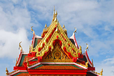 dhamma: The front of roof Thailand s temple