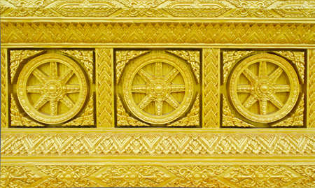 Traditional Thai style golden molding Art  Stock Photo - 15991111