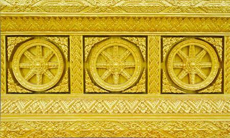 Traditional Thai style golden molding Art Stock Photo - 15991111