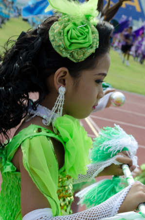 Songkhla - July 20: unidentified students during Anuban Songkhla game parade  on July 20, Songkhla Thailand. Editorial