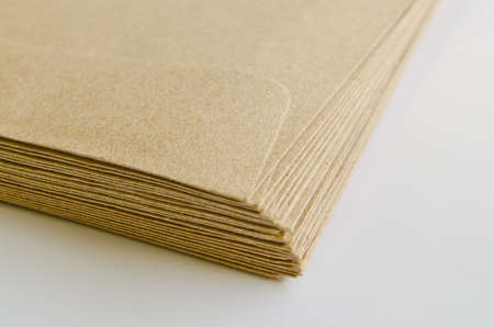 Pile of brown envelopes photo
