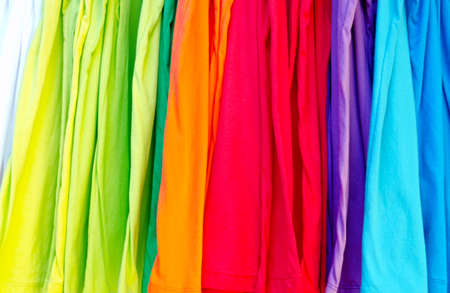 Colorful t-shirts photo