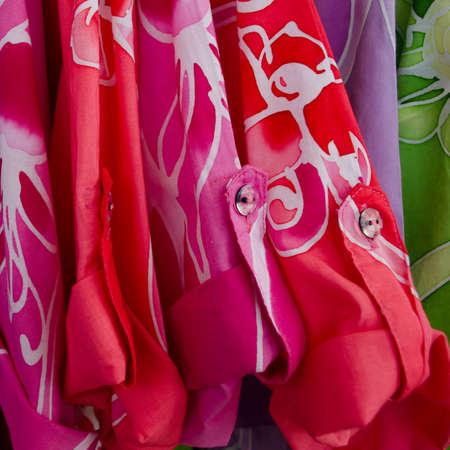 Colorful batik shirt  photo