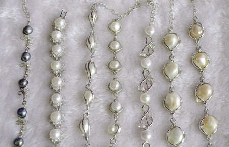 Pearl necklaces for sale photo