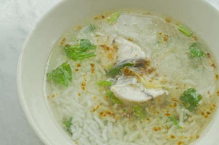 Asian style  porridge with fish