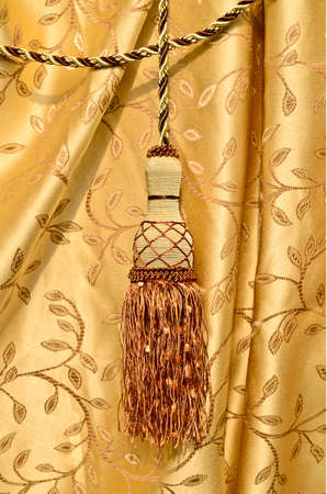 styled interior: Elegant curtain tassel