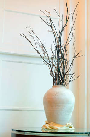 Big Vase With Dried Branches In The Interior Stock Photo Picture