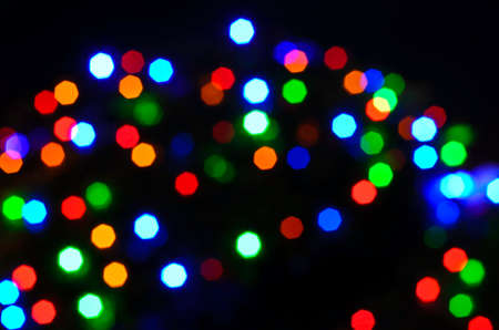 Abstract de-focused colorful lights bokeh background