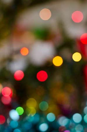 Blurred colorful bokeh of christmas lights