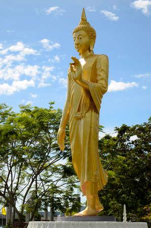 Golden buddha statute at Thai temple