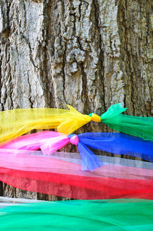 Holy tree with multicolor Fabric