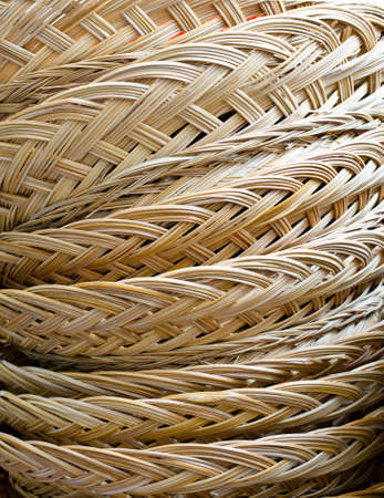 Background of rattern basket Stock Photo