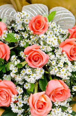 vibrant orange roses flower bouquet